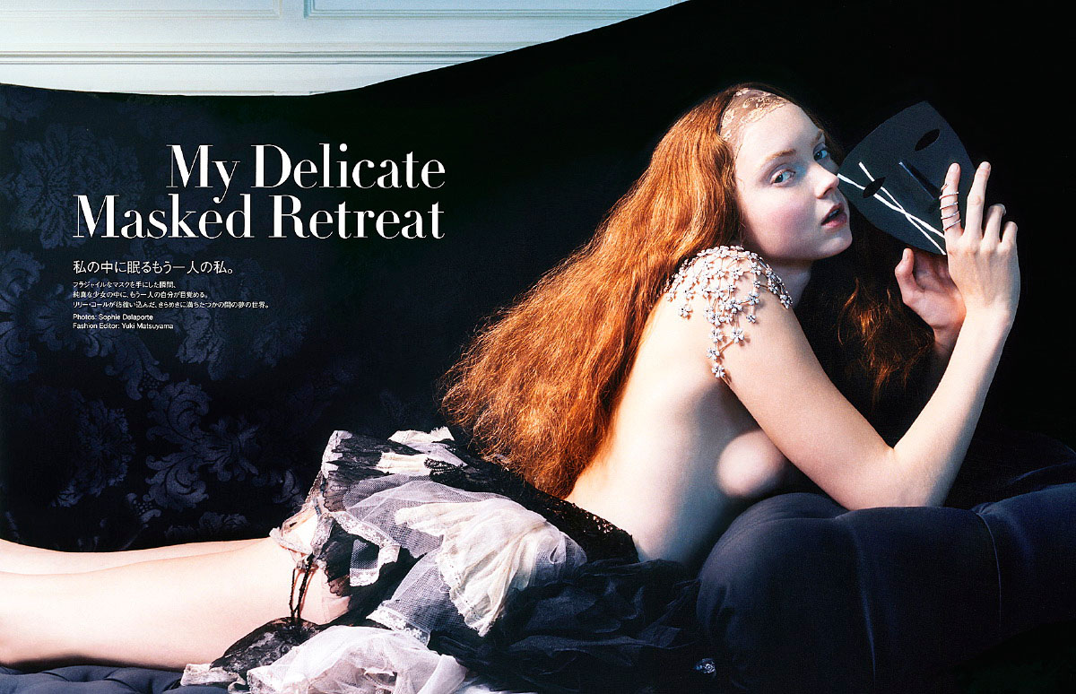 Lily Cole for Vogue Japan