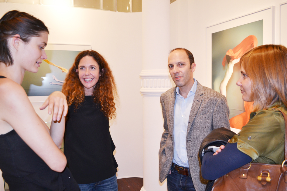 Sophie Delaporte at the opening of Nudes exhibition at Sous les étoiles gallery New York