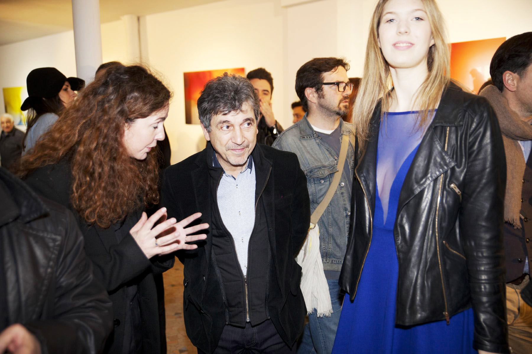 sophie delaporte and jean-luc monterosso at true colors exhibition